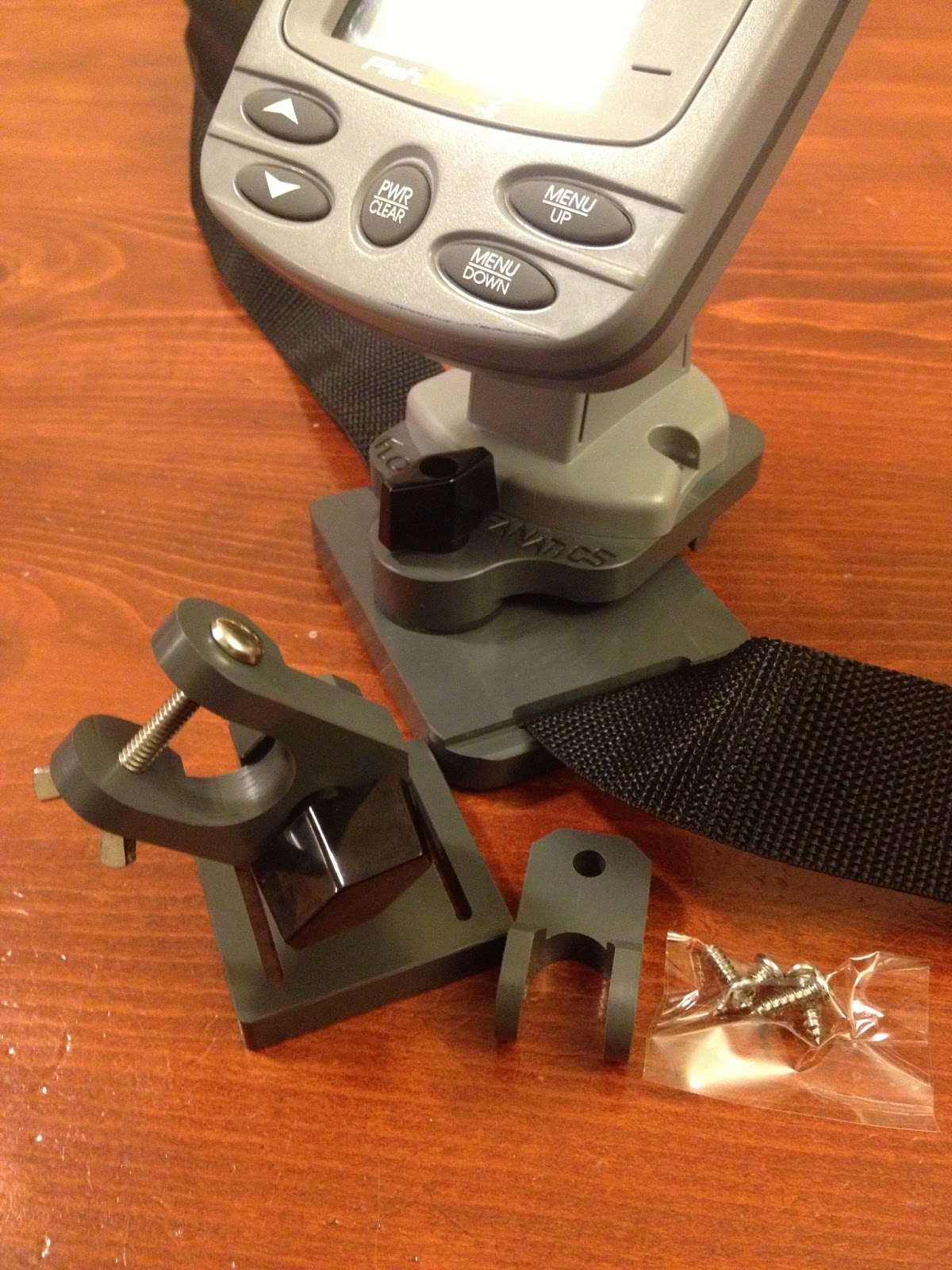 Fish finder and transducer mounting solutions new low for Float tube fish finder