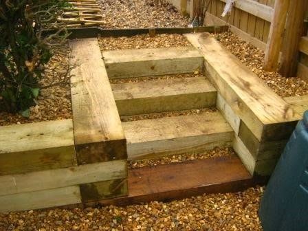How to Build Railway Sleeper Steps