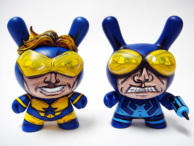 "Booster Gold & Blue Beetle Custom 3"" Dunnys by Nikejerk"