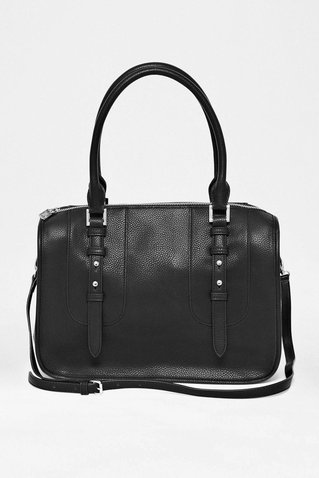 french connection black handbag