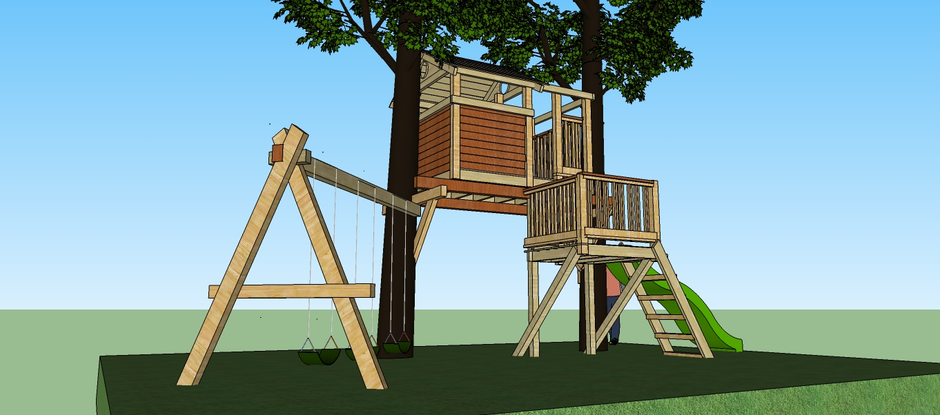 Natural State Treehouses Inc Two Level Treehouse