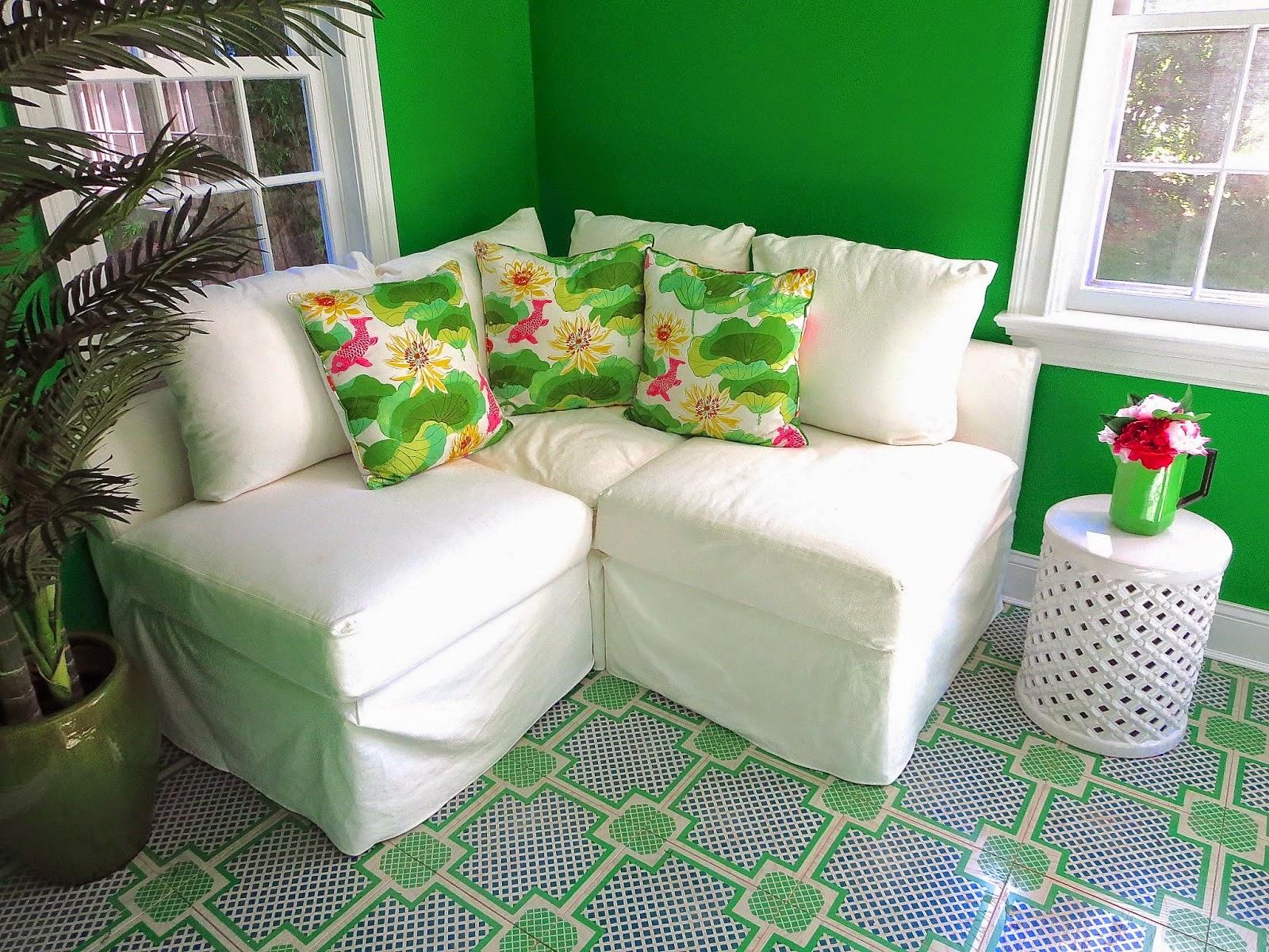 Mirth studio colorful patterned hardwood floor tiles for Garden room flooring
