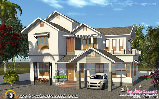 House rendering in white