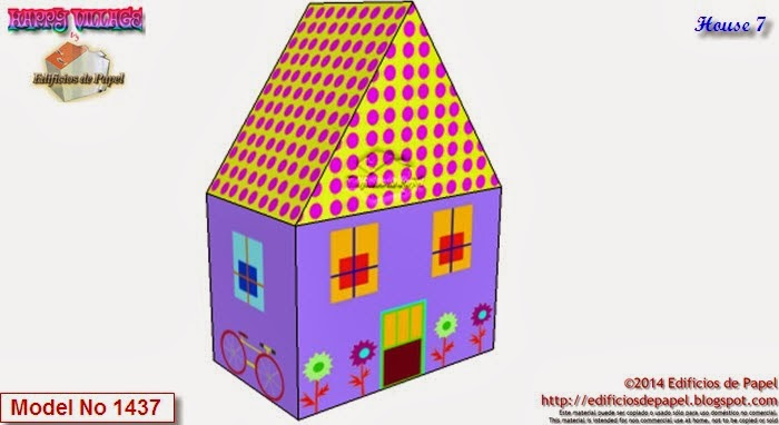 Descarga 10 casitas de papel en un solo fichero para construir tu Happy Village by Edificios de Papel