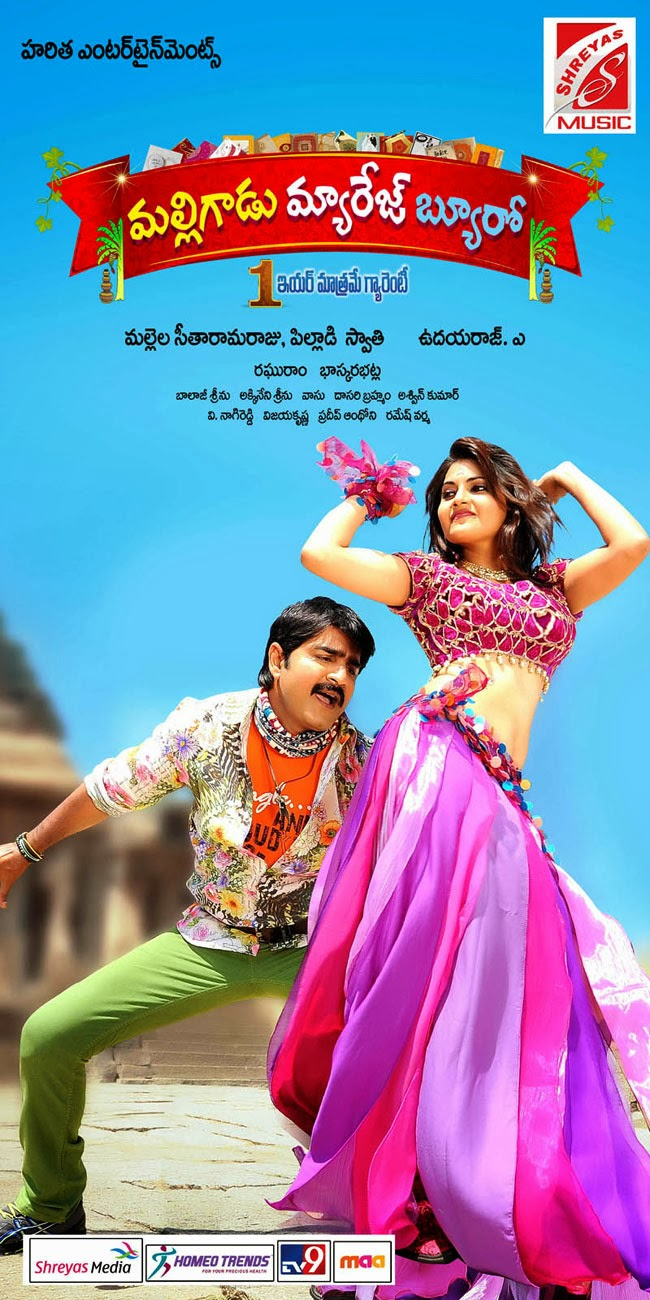 Watch Malligadu Marriage Bureau (2014) Telugu DVDScr Full Movie Watch Online For Free Download