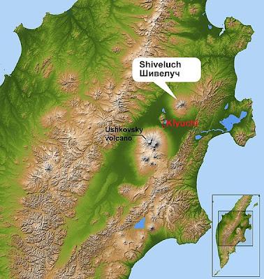 volcán Shiveluch entro en erupcion 17 de Octubre de 2011