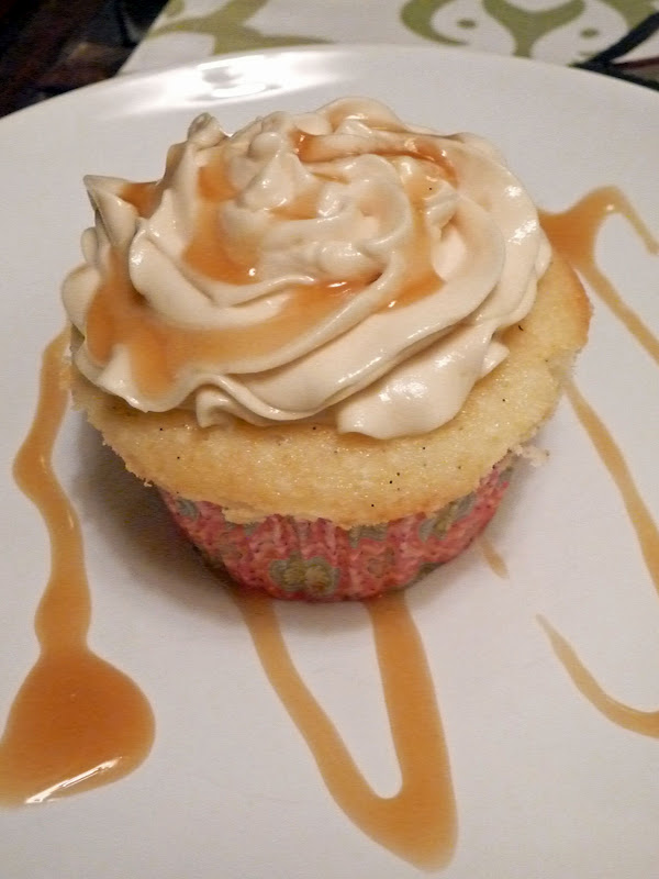 ... allrecipes.com Almond Cupcake with Salted Caramel Buttercream Frosting