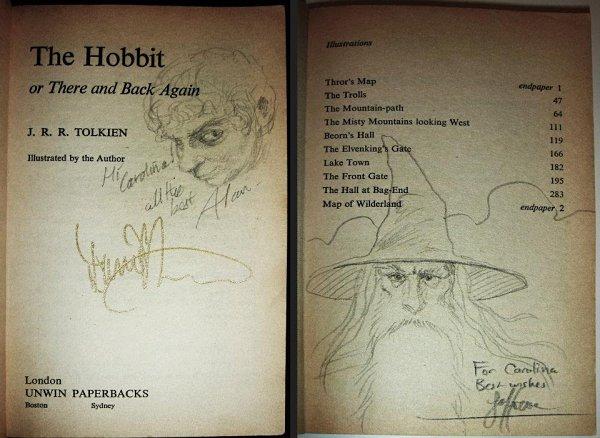 Un libro firmado, más sí es 'El Hobbit', adquiere mayor valor sentimental