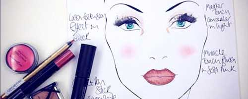 maquillaje face chart
