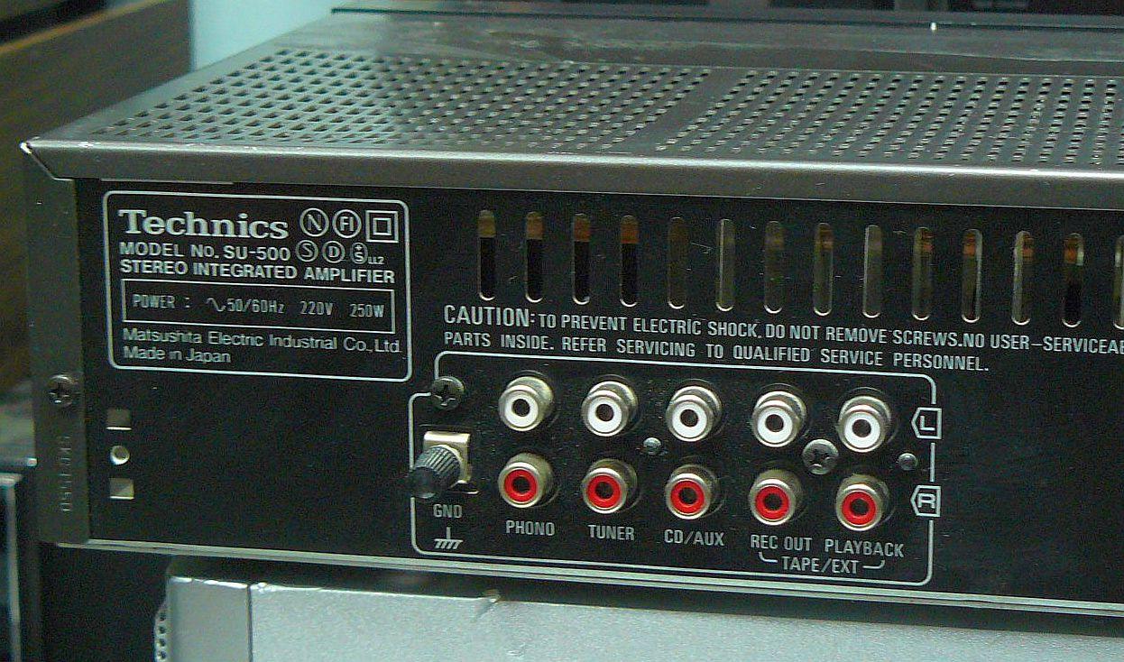 technics su 500 amplifier manual