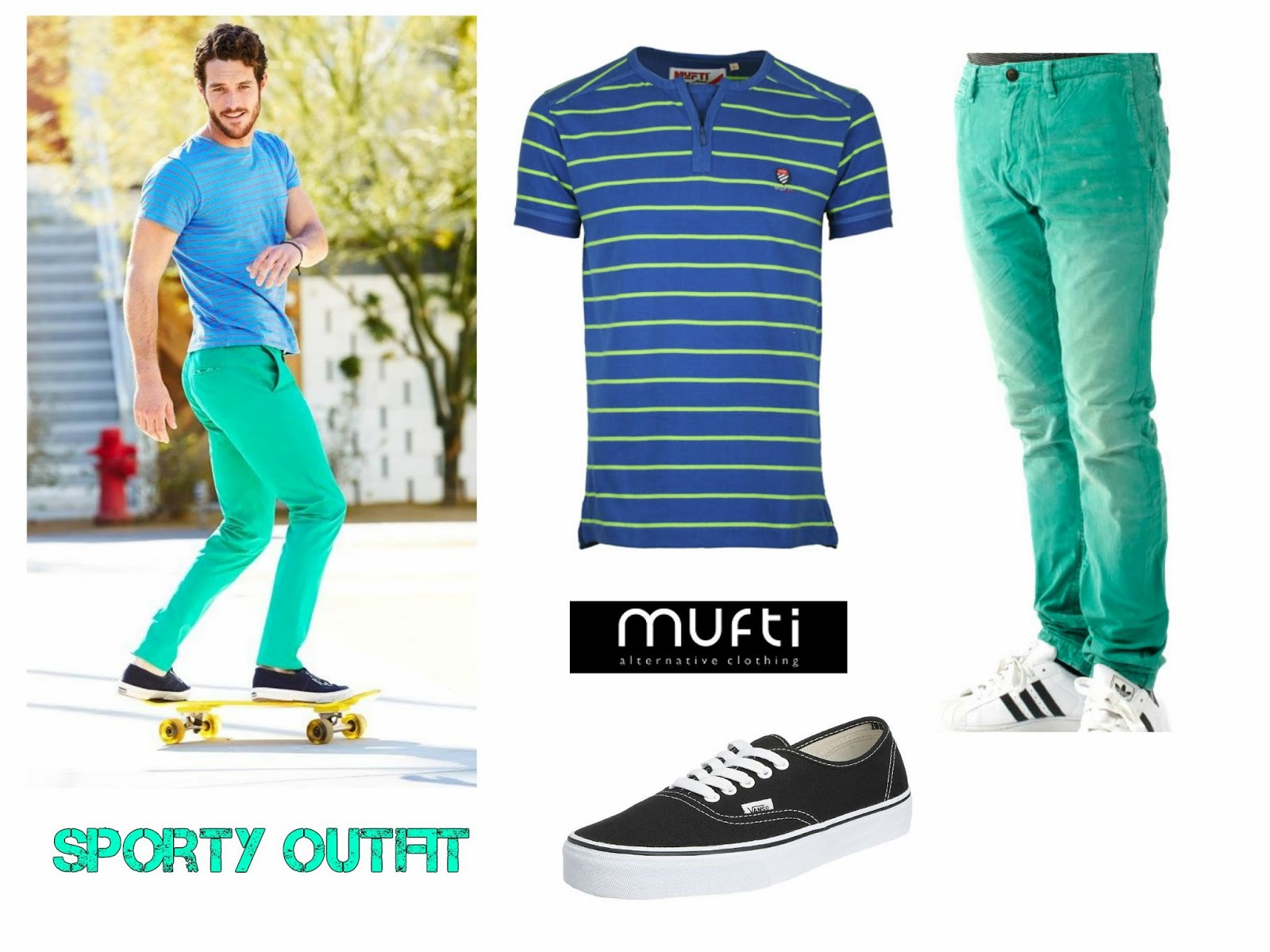 Mufti t-shirt in peppy colour, striped mufti t-shirt, sport wear mufti tee