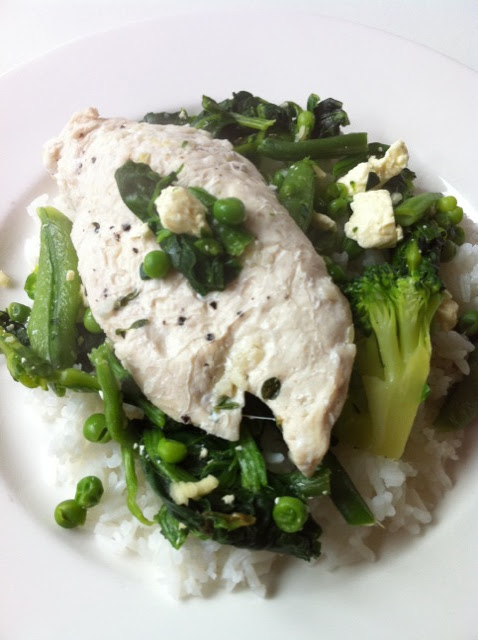 Poached chicken, http://georgebundlesfitness.blogspot.com/