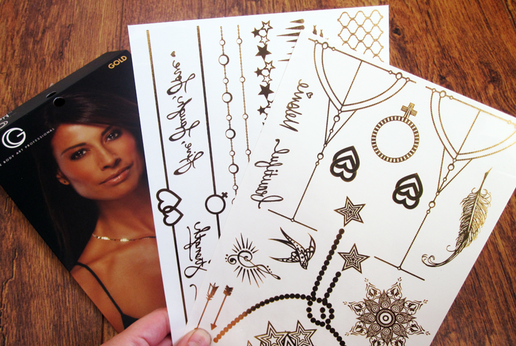 Gold By Melanie x Glimmer Temporary Tattoos