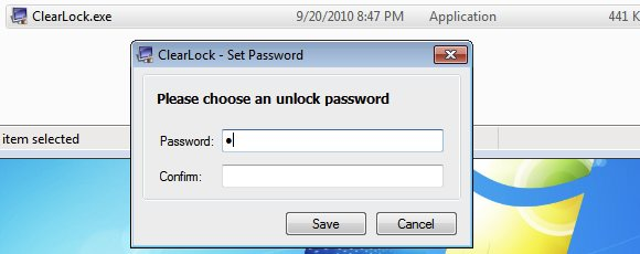 DOWNLOAD SCREEN LOCK - CLEAR LOCK - KUNCI LAYAR FOR PC