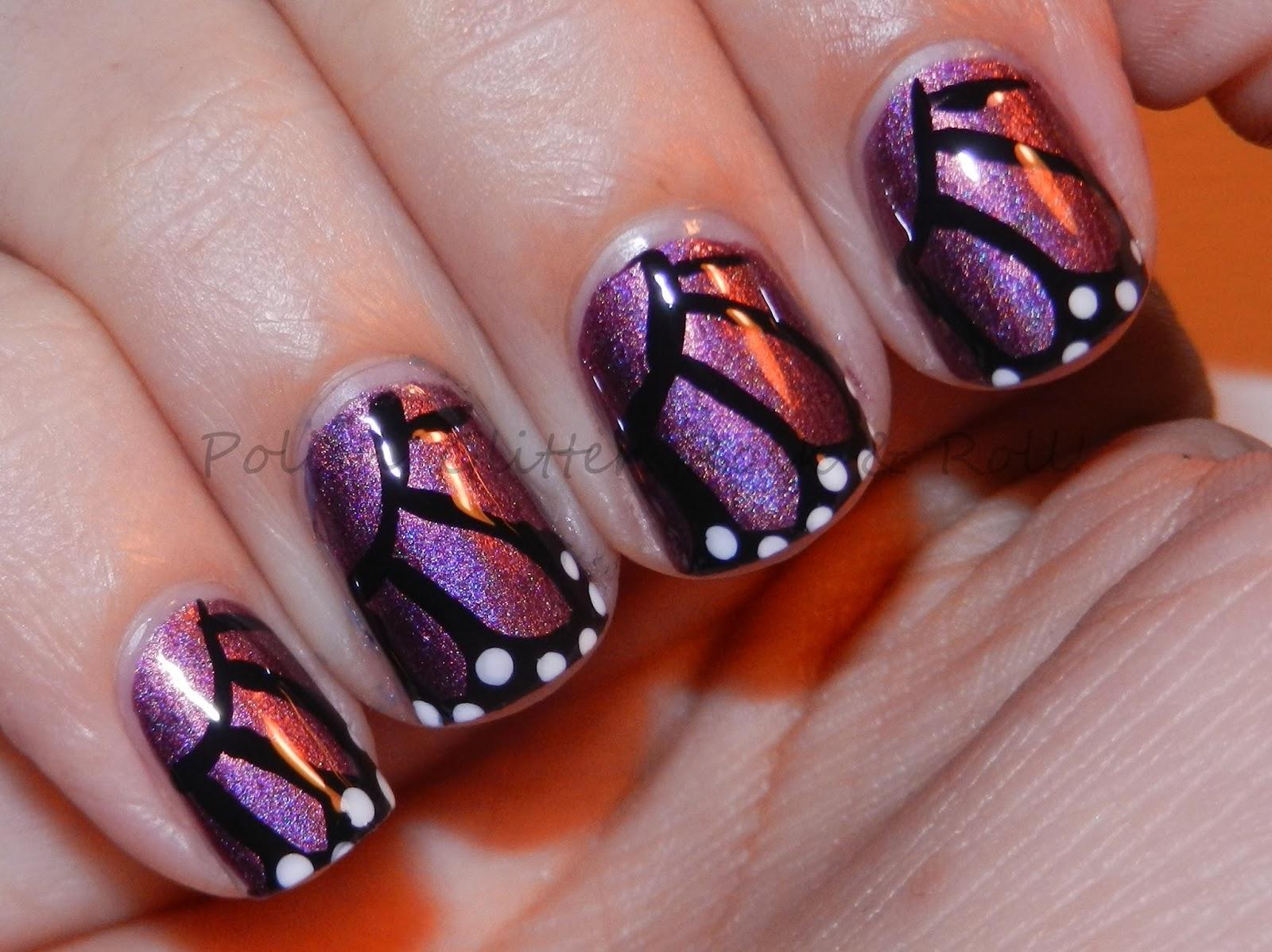 Polish. Glitter. Rock & Roll!: Butterfly Nail Art