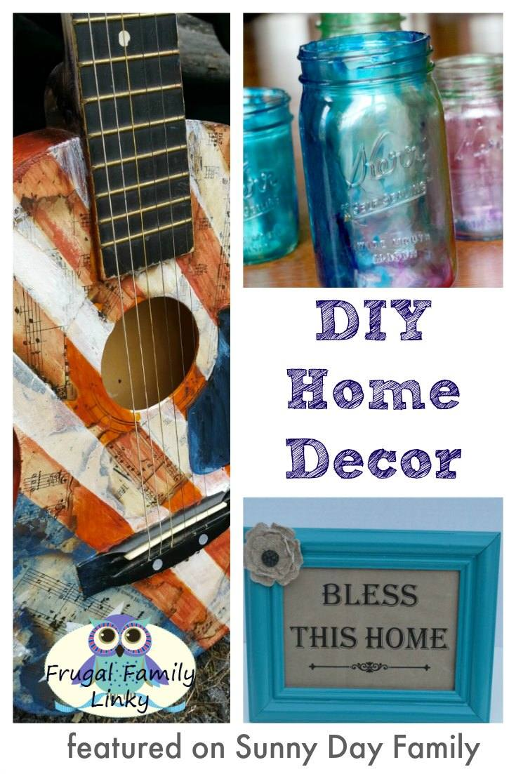 DIY home decor ideas featured on this week's Frugal Family link party! Get low cost and money saving ideas from bloggers around the world.