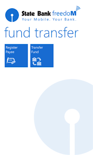Fund Transfer - SBI FreedoM Windows Phone app