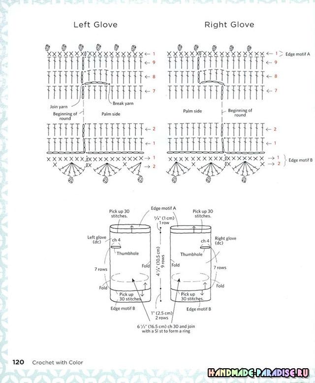 Схемы вязания к журналу Crochet With Color