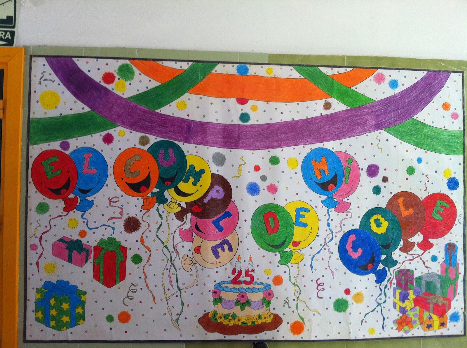 Ceip el faro 25 aniversario - Mural para cumpleanos ...
