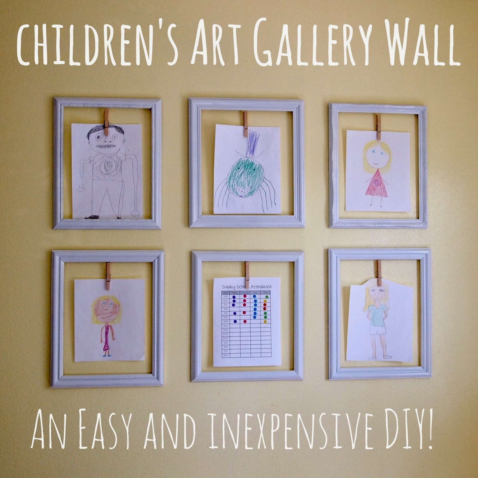 Cheap Frames From The Craft Store And Imagination: Cathey With An E: DIY Children's Art Gallery Wall