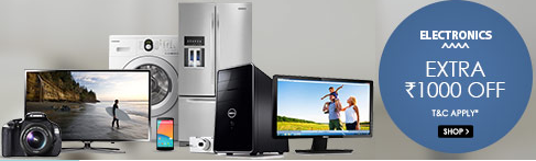 Snapdeal: Buy Appliances, Cameras, Laptops, Mobiles, Tablets & Electronics Extra Rs. 1000 off