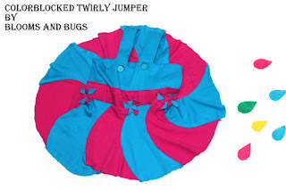 Colorblocked Twirly jumper tutorial