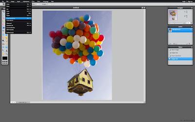 Pixlr Edit Menu