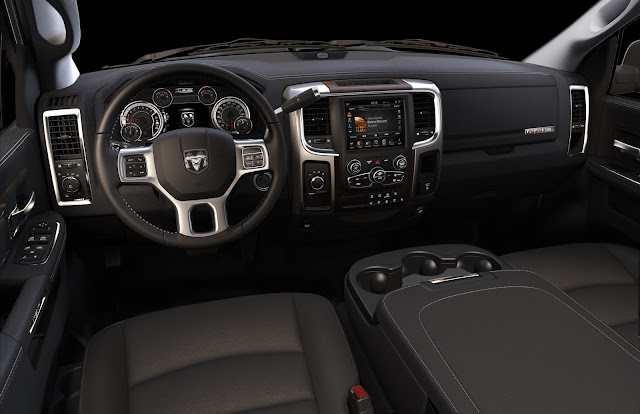 Interior view of 2013 Ram 3500 Laramie