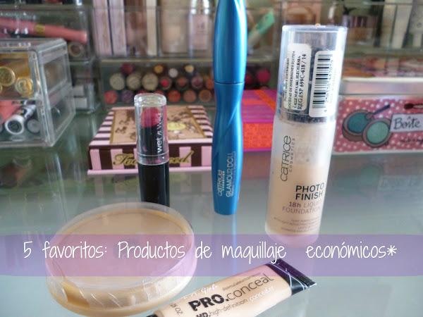 5 favoritos: Productos de maquillaje económicos
