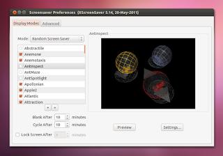 Activar protector de pantalla en Ubuntu 12.04 LTS