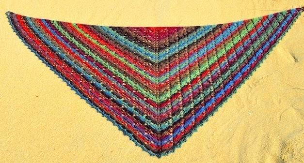 Driehoeken staccato shawl