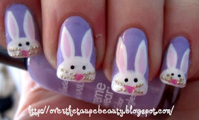 easter nails rabbit