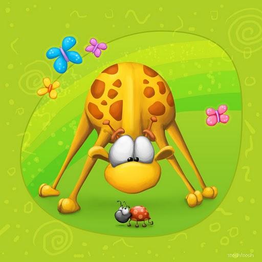 Dibujos divertidos de jirafa  Imagui