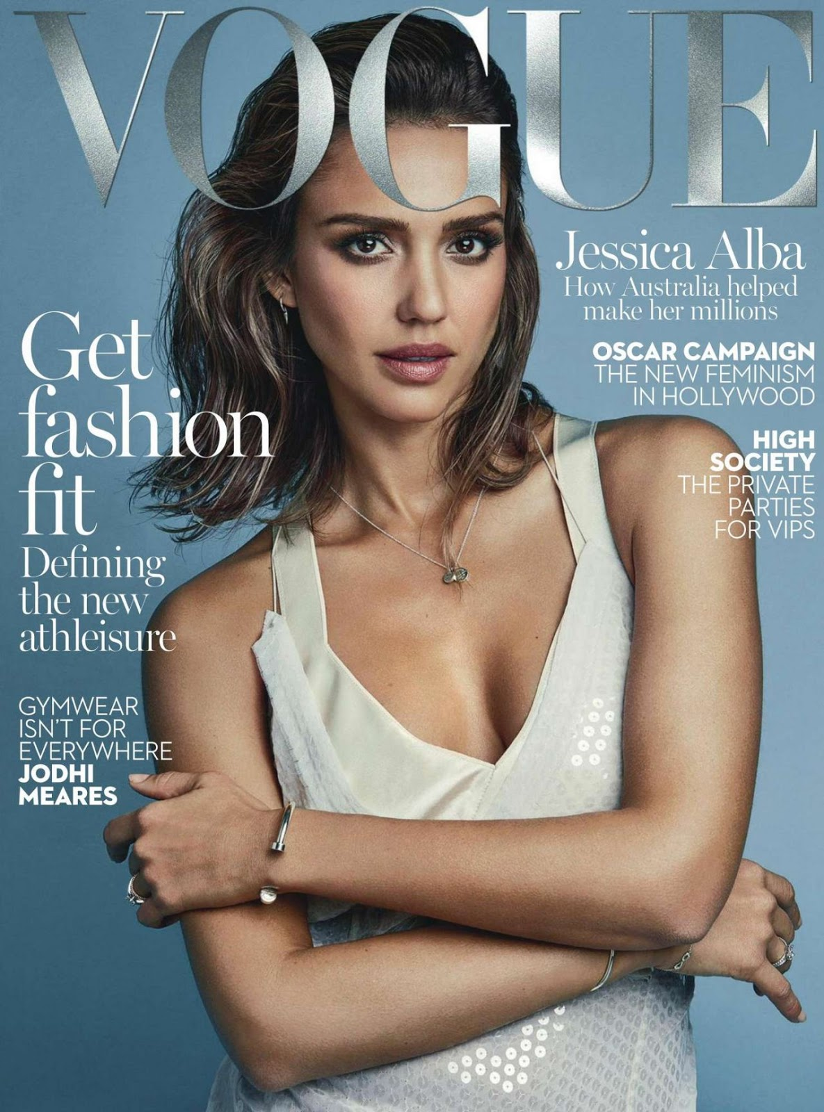 Jessica Alba gets into couture for Vogue Australia February 2016