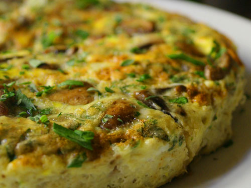 Asparagus And Mushroom Frittata Recipe — Dishmaps