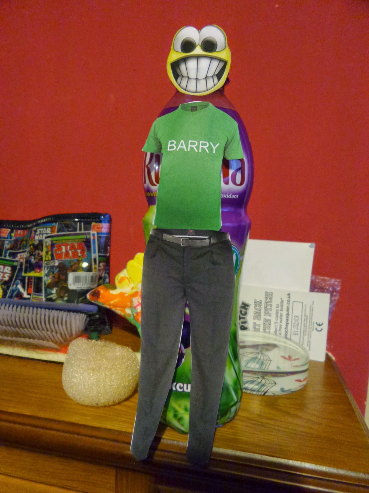 Barry the bottle of Ribena