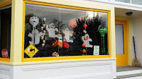 shop window decked out for Halloween