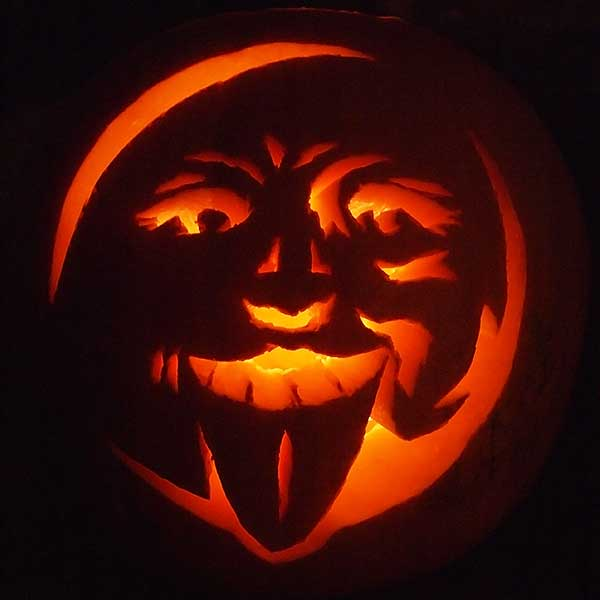 Man Pumpkin Carving Ideas Carved Moon Man Pumpkin