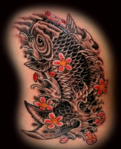 Koi fish tattoo photos 02 the collectioner for Black and white coy fish
