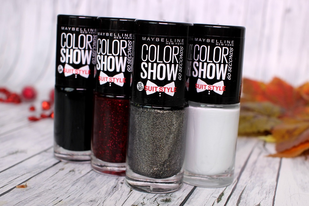 business blouse, color show, colorshow, drogerie, essie dupe, herbst, le, limited edition, maybelline, nagellack, naildesign, nailpolish, red reaction, review, suit and sensibility, suit style, swatches, tragebilder