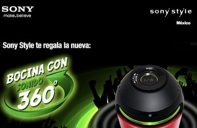 premios bocina sony con sonido 360 grados promocion sony style Mexico 2011