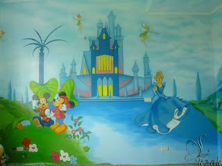 vẽ tranh tường, vẽ tranh tường phòng bé