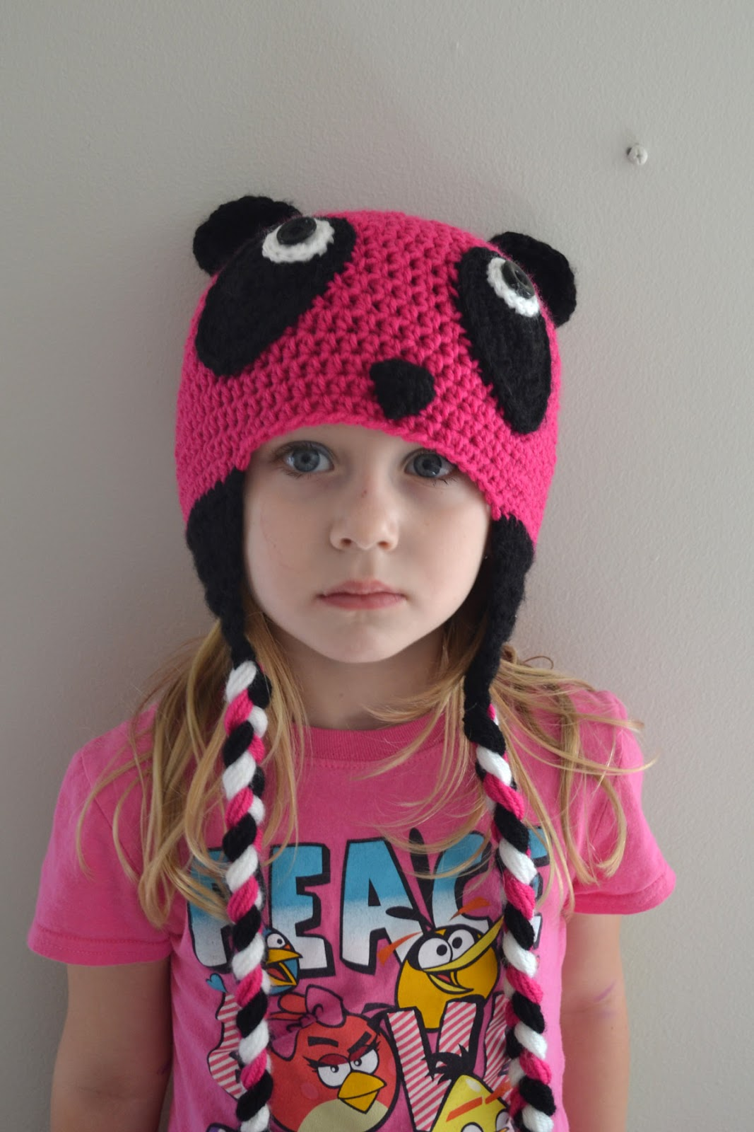 Crochet Hat Pattern For 6 Year Old : Crochet in Color: The Pink Panda