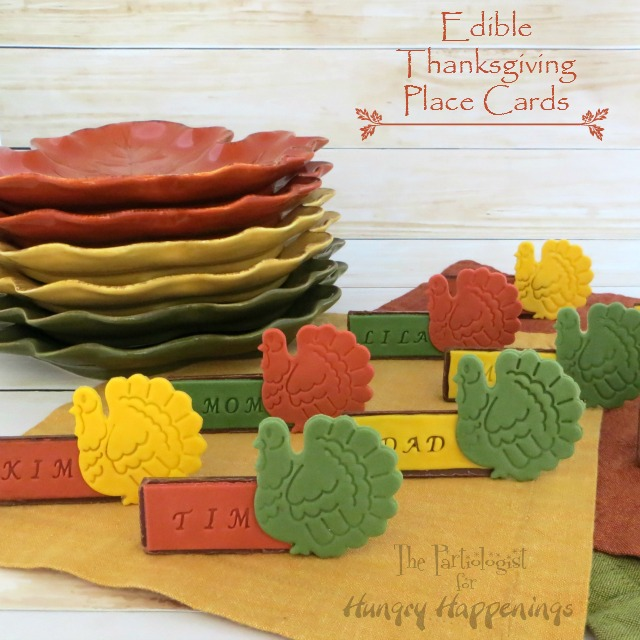 Edible Cake Images Thanksgiving : The Partiologist: Edible Thanksgiving Place Cards!