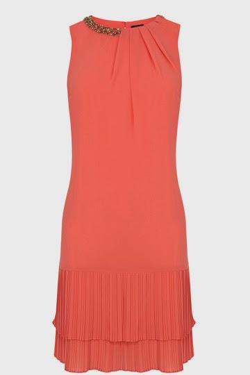 oasis orange dress