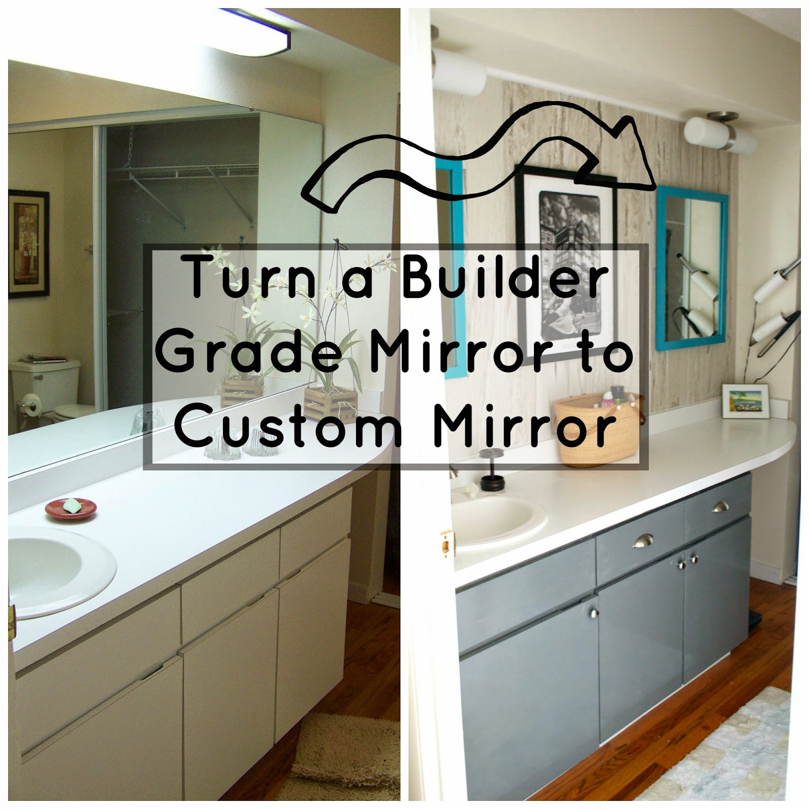 Ok... Does Anyone Else Hate The Builder Grade Mirror? They Always Look So  Unfinished To Me. I Mentioned Last Post How I Finally Took The Time To  Investigate ...