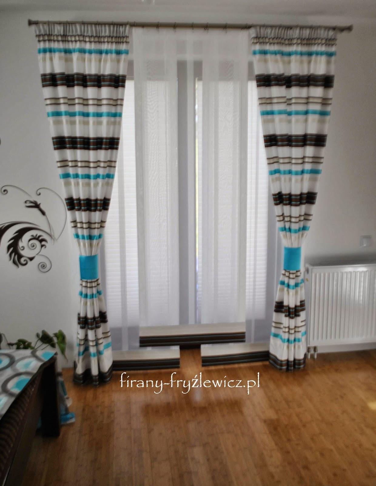 firany fryźlewicz dekoracja drzwi balkonowych