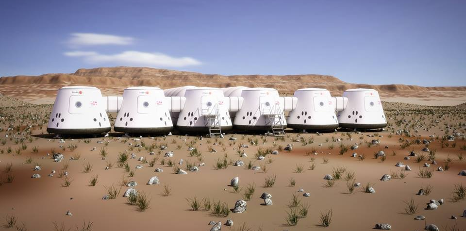 Simulation project to replicate the future Mars human outpost. Credit: Mars One