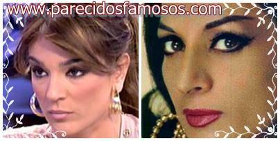 Raquel Bollo con Lola Flores