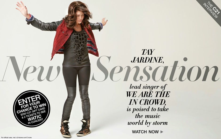 "03102014_HP_TAYJARDINE WIN 2 Tickets To See ""We Are The In Crowd"" in Concert + $250 to Century 21- Contest and Sweepstakes"
